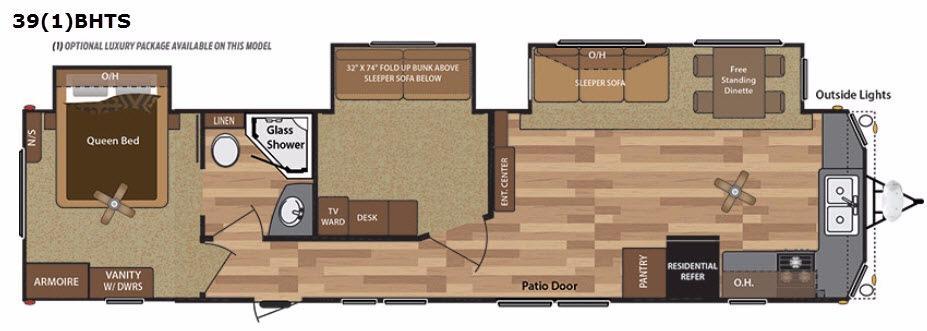 Retreat 391BHTS Floorplan Image