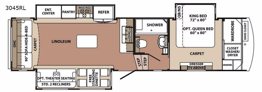 Blue Ridge 3045RL Floorplan Image