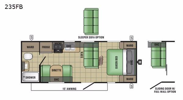 Autumn Ridge 235FB Floorplan Image