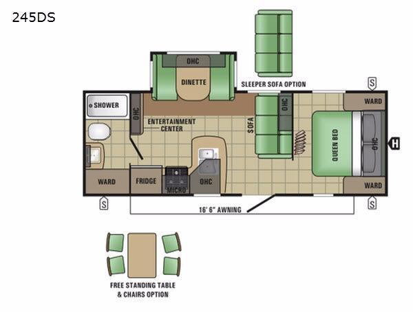 Autumn Ridge 245DS Floorplan Image