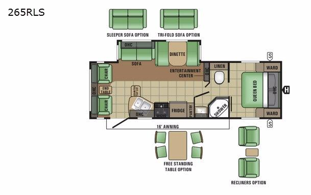 Autumn Ridge 265RLS Floorplan Image