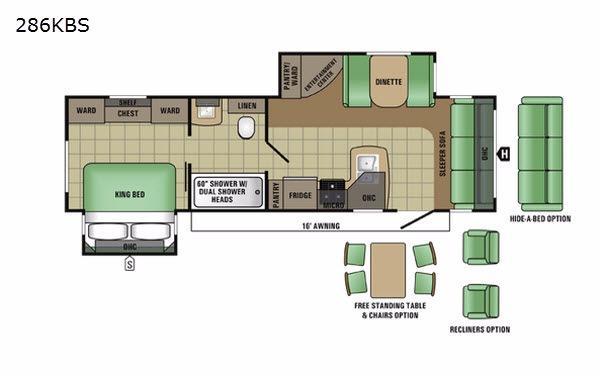 Autumn Ridge 286KBS Floorplan Image
