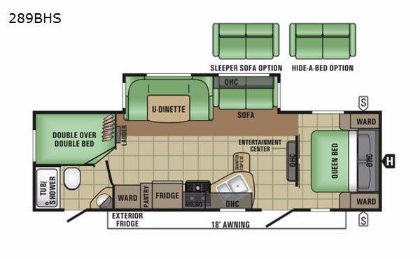 Autumn Ridge 289BHS Floorplan Image