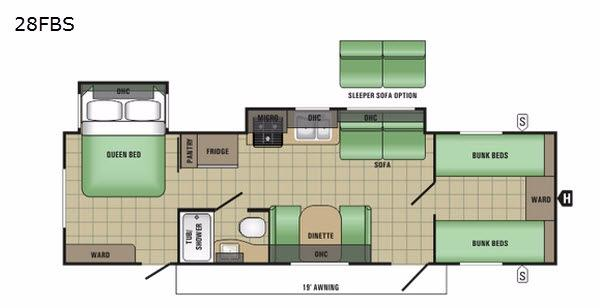 Autumn Ridge 28FBS Floorplan Image