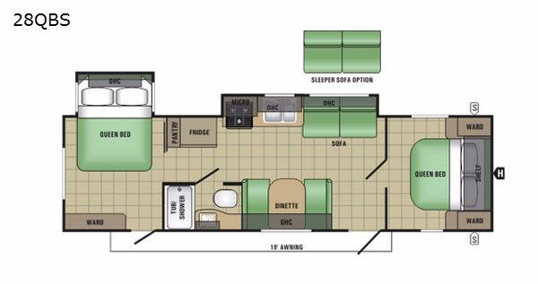 Autumn Ridge 28QBS Floorplan Image