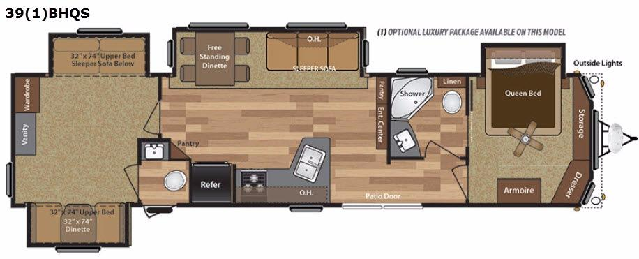 Retreat 391BHQS Floorplan Image