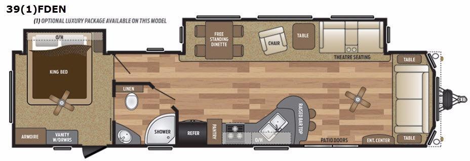 Retreat 391FDEN Floorplan Image