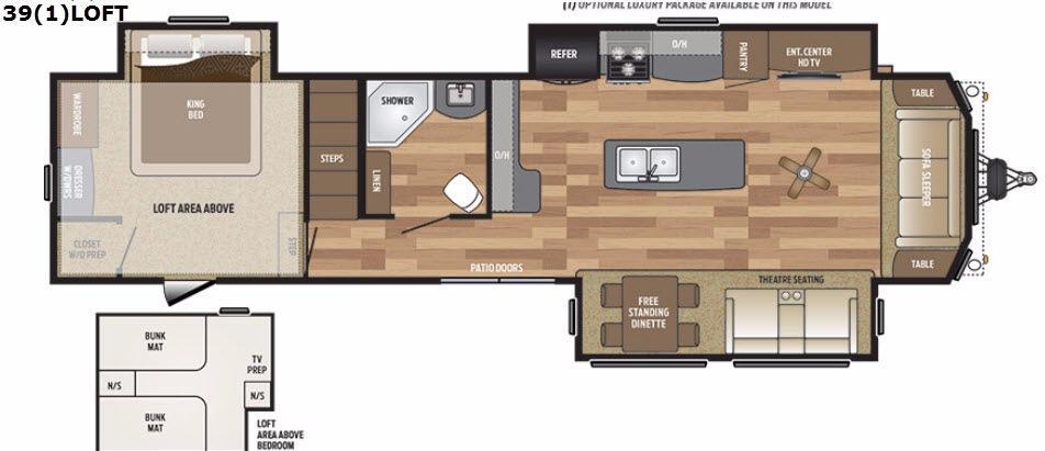 Retreat 391LOFT Floorplan Image