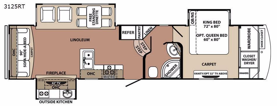 Blue Ridge 3125RT Floorplan Image