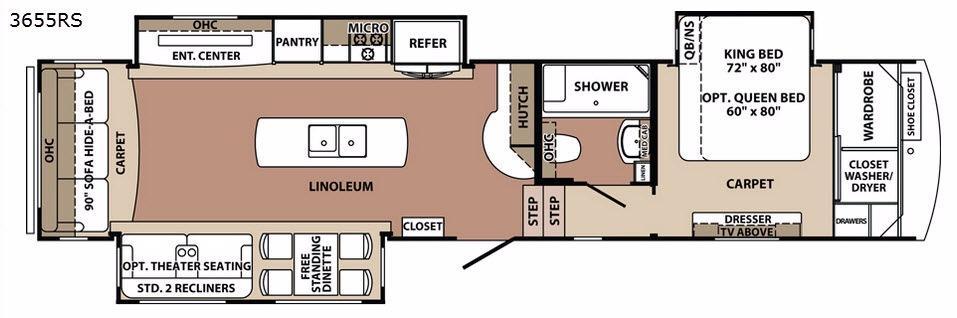 Blue Ridge 3655RS Floorplan Image