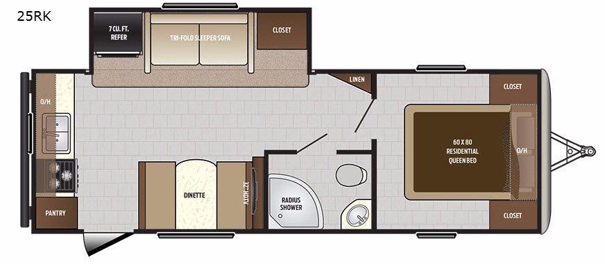 Sprinter Campfire Edition 25RK Floorplan Image