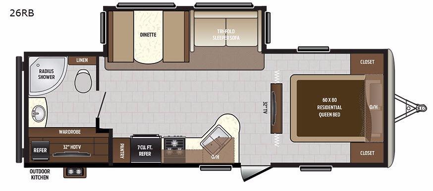 Sprinter Campfire Edition 26RB Floorplan Image