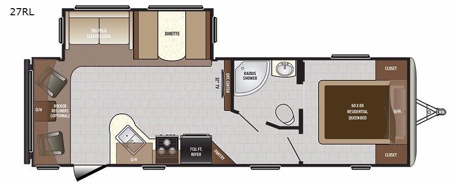 Sprinter Campfire Edition 27RL Floorplan Image