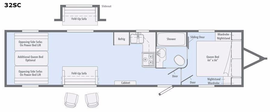 Spyder 32SC Floorplan Image