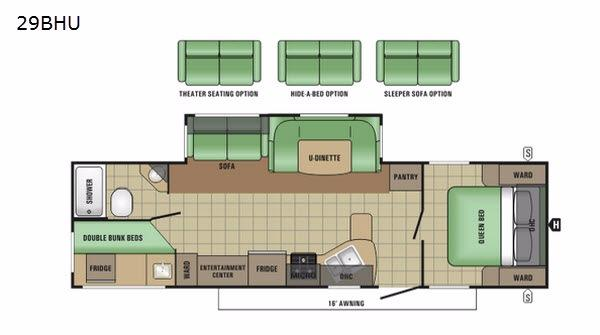 Autumn Ridge 29BHU Floorplan Image