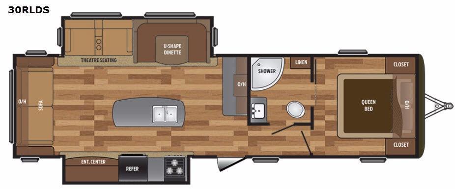 Hideout 30RLDS Floorplan Image