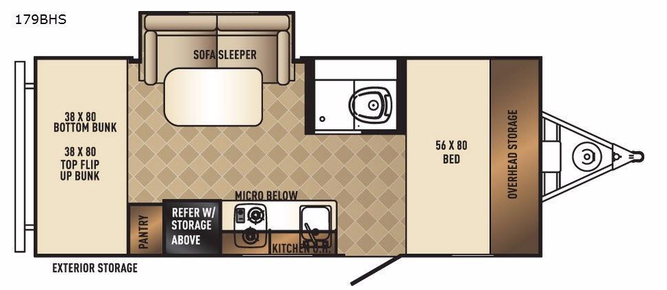 PaloMini 179BHS Floorplan Image