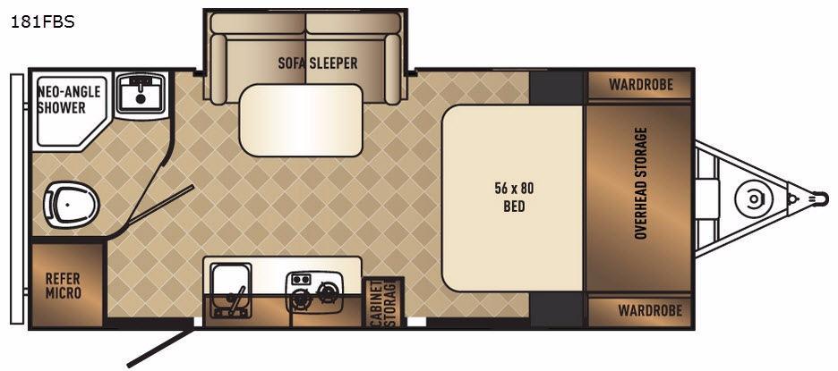 PaloMini 181FBS Floorplan Image
