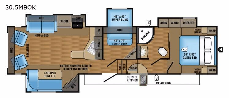 Eagle HT 30.5MBOK Floorplan Image