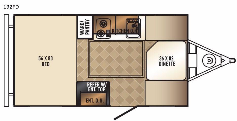 PaloMini 132FD Floorplan Image