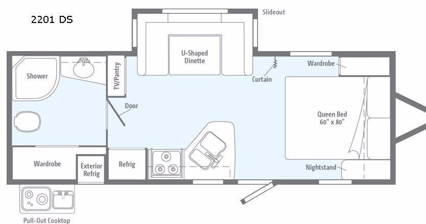 Minnie 2201 DS Floorplan Image