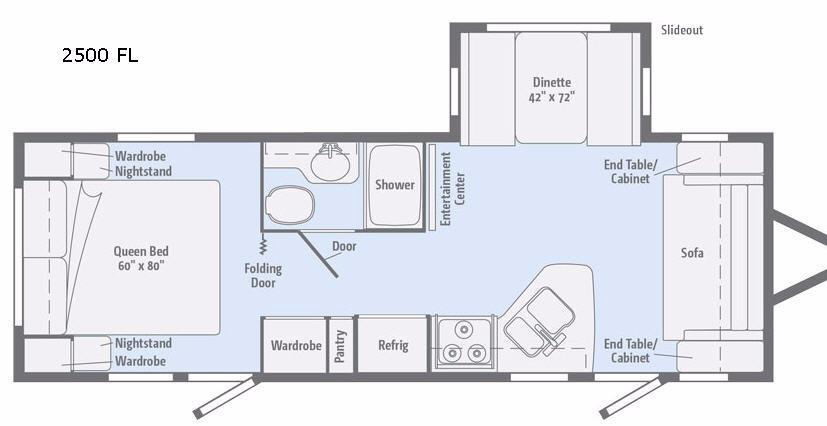 Minnie 2500 FL Floorplan Image