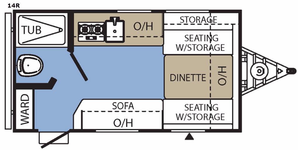 Clipper Ultra-Lite 14R Floorplan Image