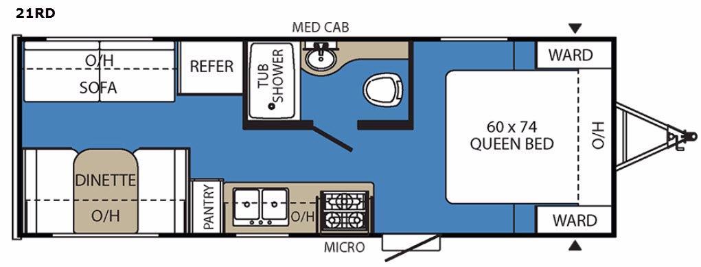Clipper Ultra-Lite 21RD Floorplan Image