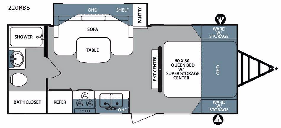 Surveyor 220RBS Floorplan Image