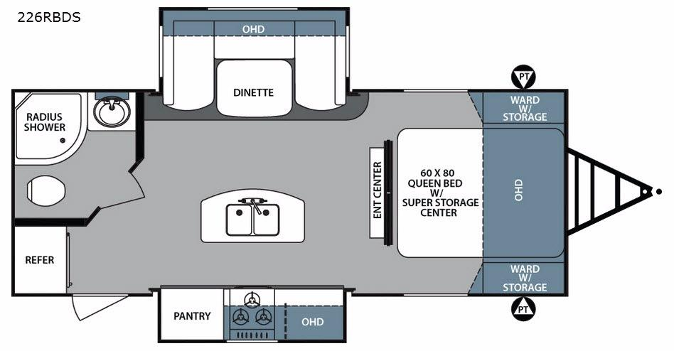 Surveyor 226RBDS Floorplan Image