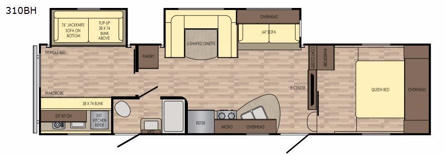 Volante 310BH Floorplan Image
