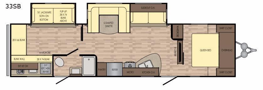 Volante 33SB Floorplan Image