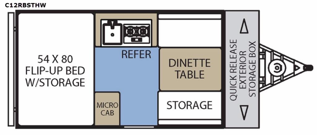 Clipper Camping Trailers C12RBSTHW Floorplan Image