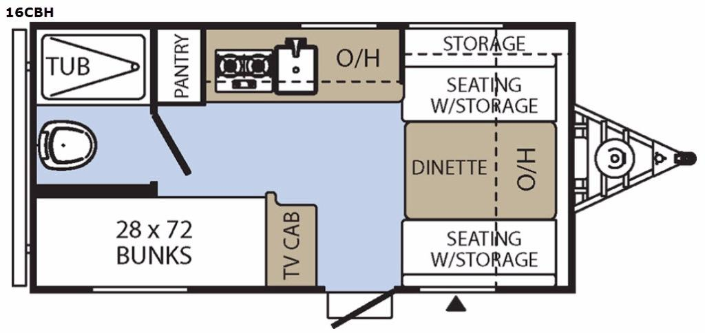 Clipper Cadet 16CBH Floorplan Image
