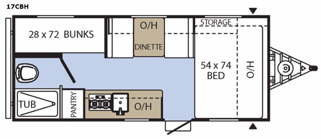 Clipper Cadet 17CBH Floorplan Image