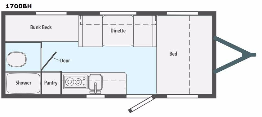 Micro Minnie 1700BH Floorplan Image