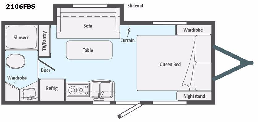 Micro Minnie 2106FBS Floorplan Image