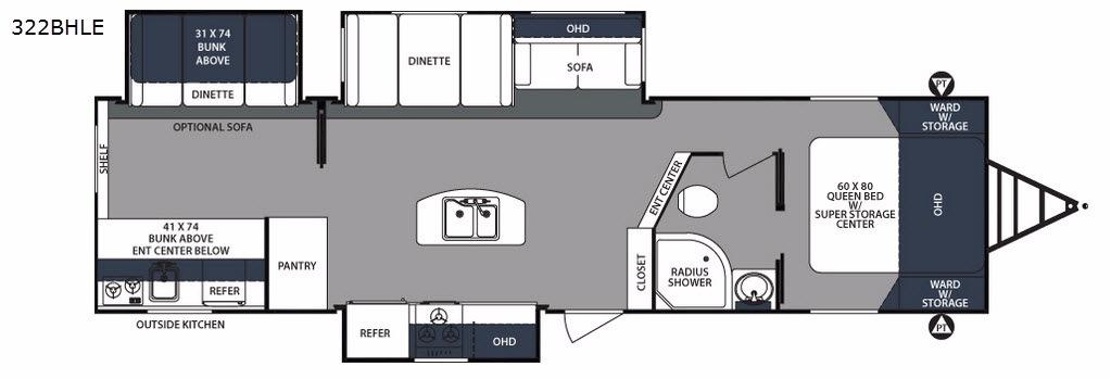 Surveyor 322BHLE Floorplan Image