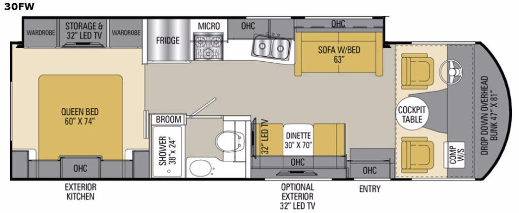 Pursuit 30 FW Floorplan Image