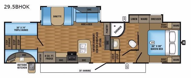 Eagle HT 29.5BHOK Floorplan Image