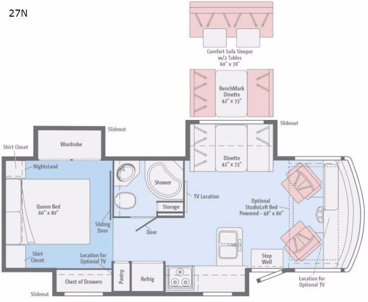 Vista LX 27N Floorplan Image