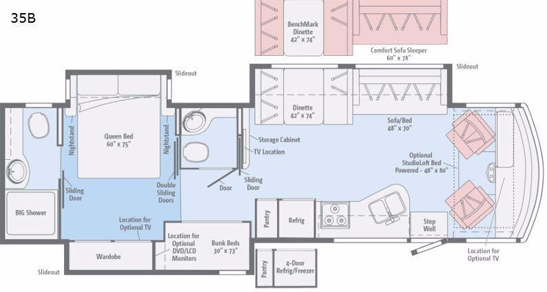 Vista LX 35B Floorplan Image