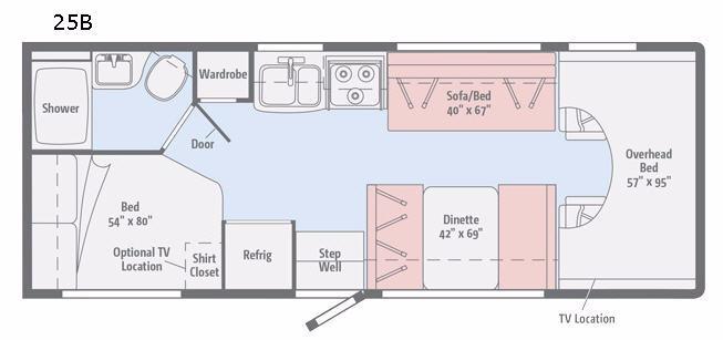 Minnie Winnie 25B Floorplan Image