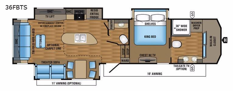 Pinnacle 36FBTS Floorplan Image