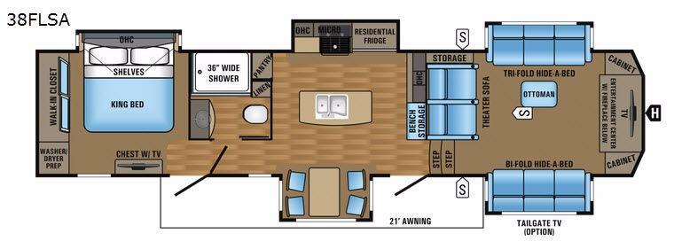 Pinnacle 38FLSA Floorplan Image
