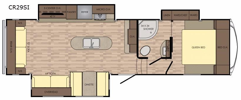 Cruiser Aire CR29SI Floorplan Image