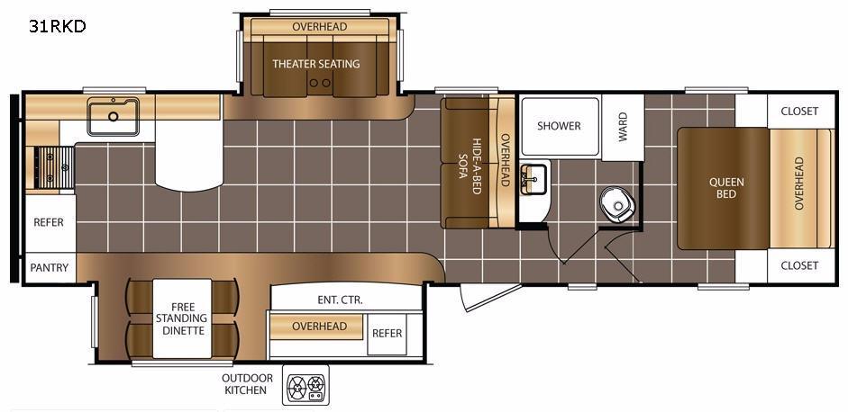 Avenger 31RKD Floorplan Image