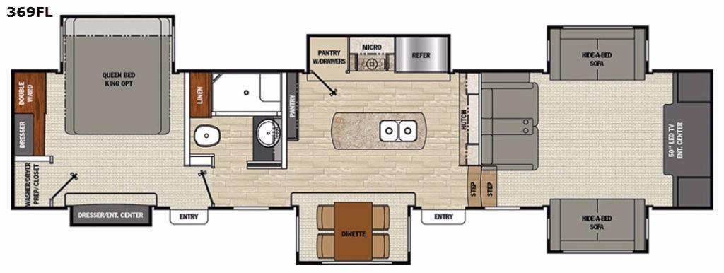 Floorplan - 2017 Brookstone 369FL Fifth Wheel