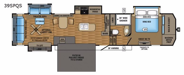 Pinnacle 39SPQS Floorplan Image