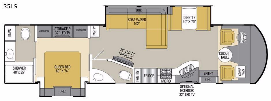 Mirada 35LS Floorplan Image